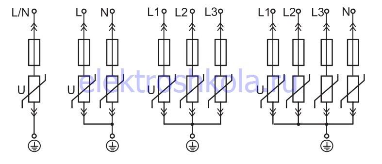 принципиальные электрические схемы подключения узип