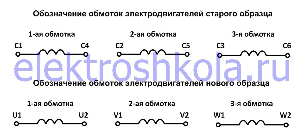 выводы обмотки статора электродвигателя