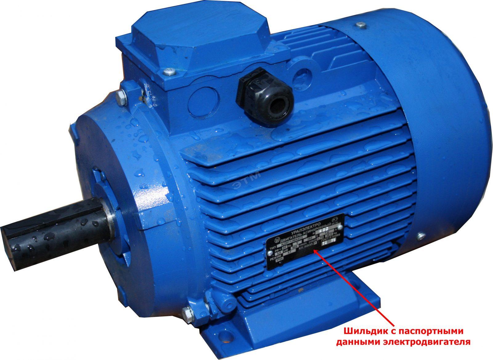 Электродвигатель асинхронный трехфазный параметры