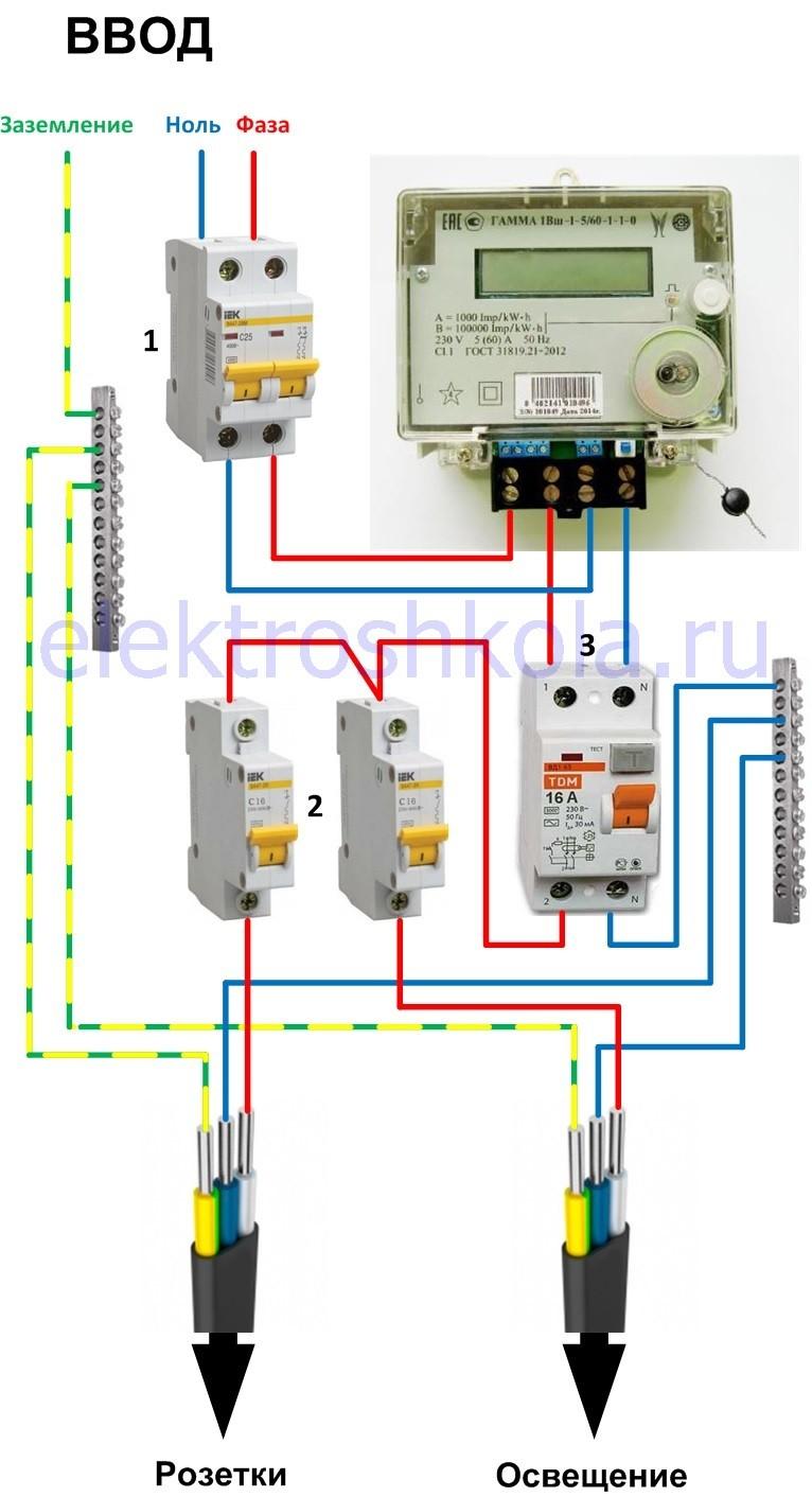 Схема подключения однофазного электрического счетчика фото 210