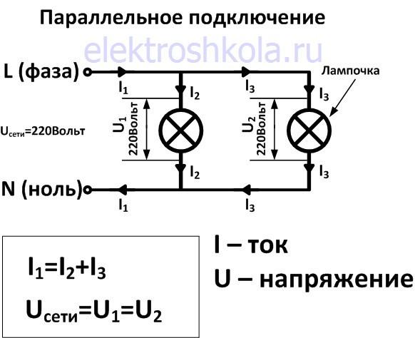Параллельное подключение нагрузки в электросеть