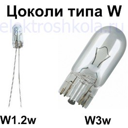 безцокольные лампы типа W