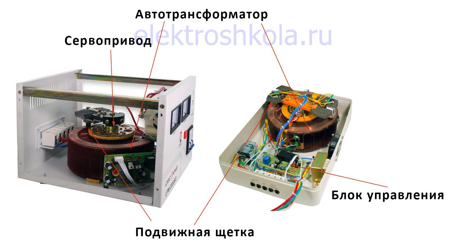 Устройство электромеханического стабилизатора