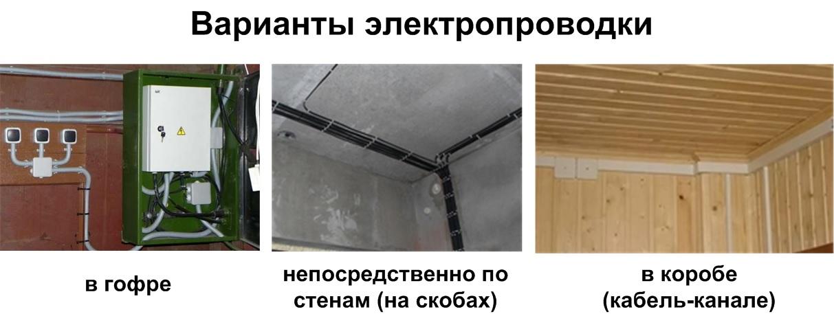 варианты прокладки электропроводки