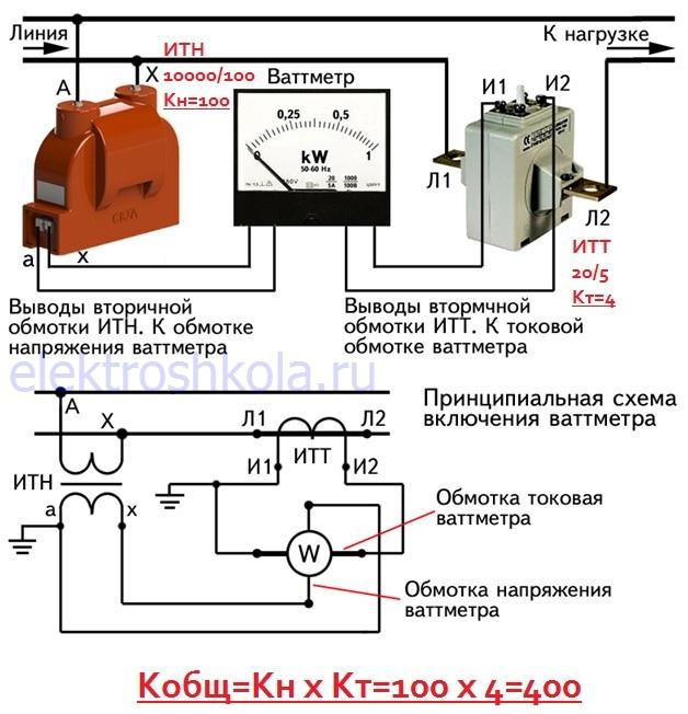 измерение мощности через измерительные трансформаторы