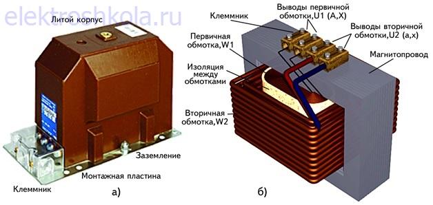 устройство измерительного трансформатора напряжения